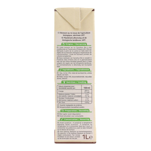 Carrefour-Bio-Organic-Rice-Drink-1L