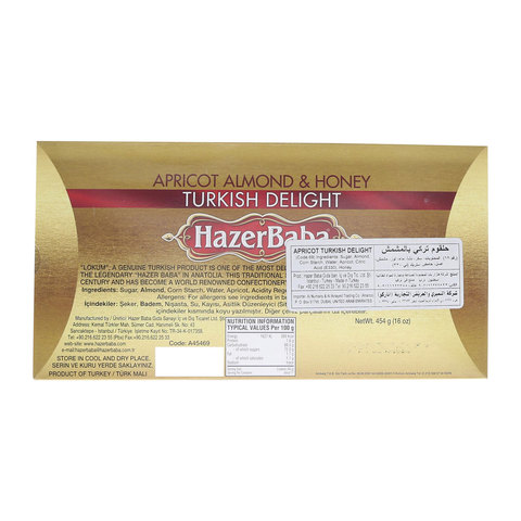 Hazer-Baba-Apricot-&-Almond-&-Honey-Turkish-Delight-454g