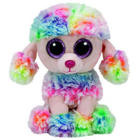 Ty Beanie Boos Dog Rainbow Multi Color 6""