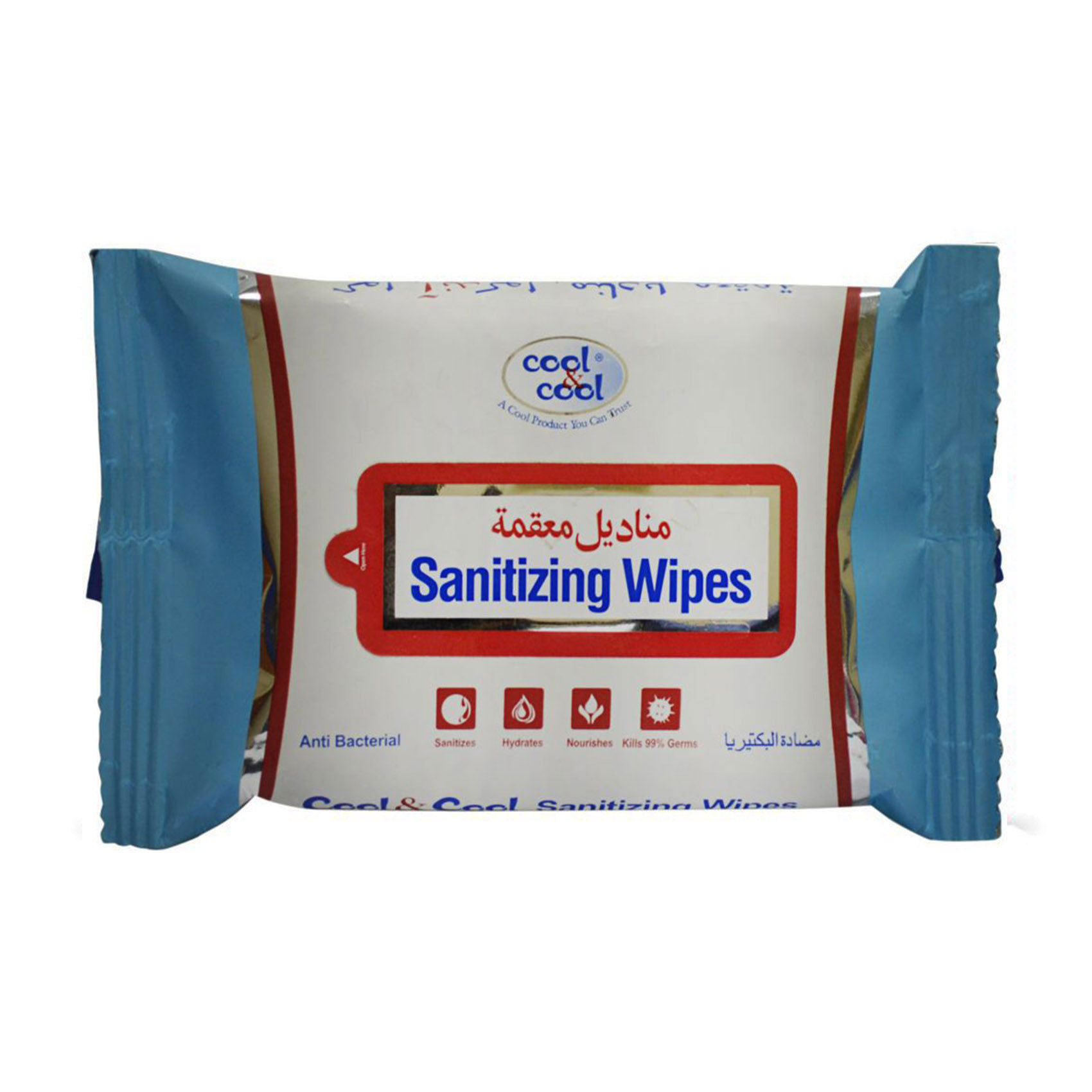 COOL&COOL - SANITIZING WIPES 15'S