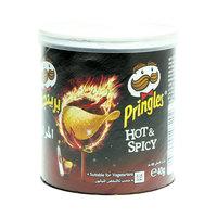 Pringles Hot & Spicy Potato Chips 40g