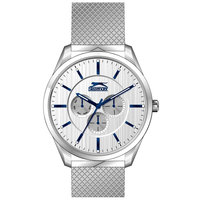 Slazenger Men's Analog Display Silver Dial Silver Stainless Steel Bracelet - SL.9.6003.2.01