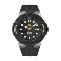 CAT Men's Watch Shockmaster Analog Black Dial Black Silicon Band 48mm  Case