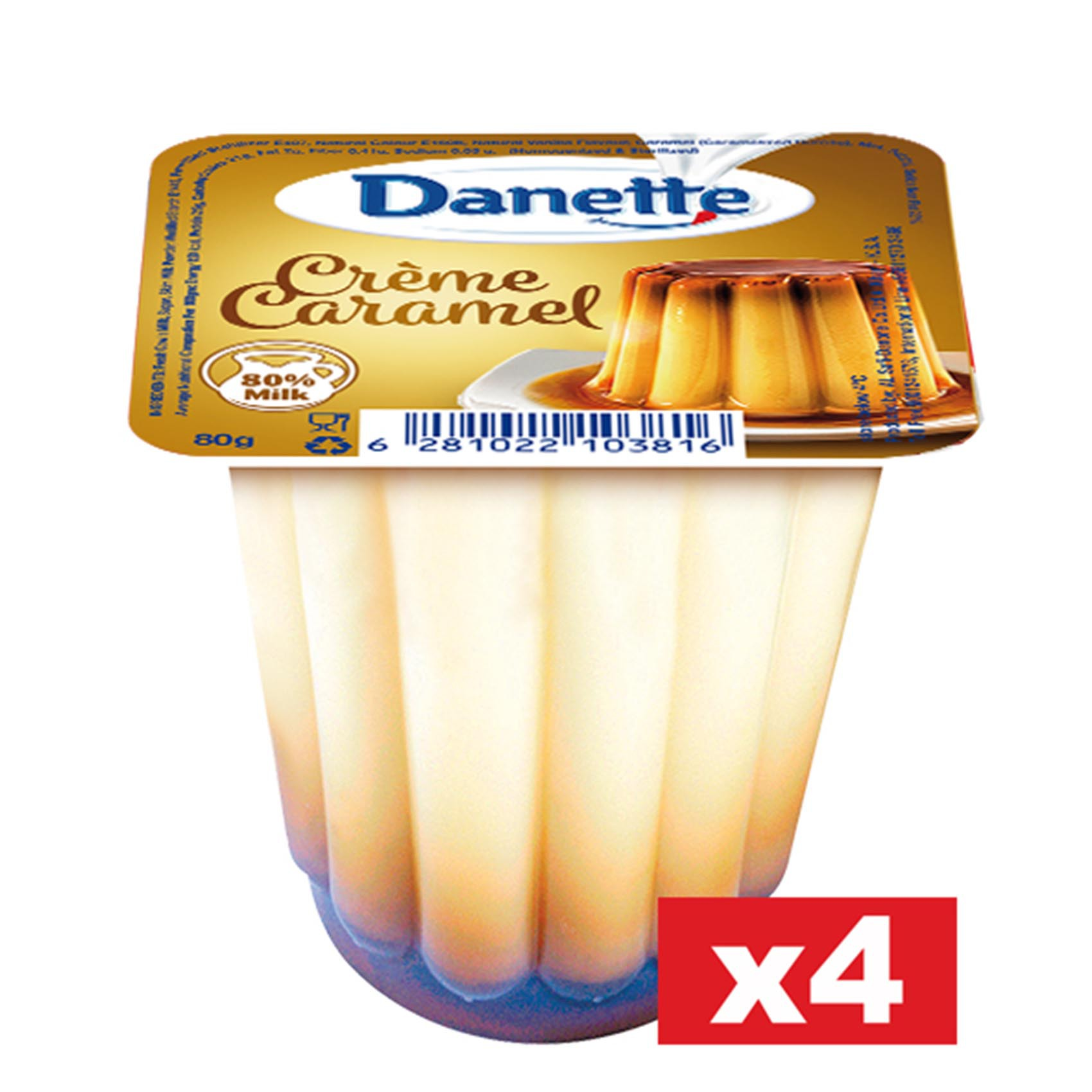 DANETTE CREAM CARAMEL 80GX4