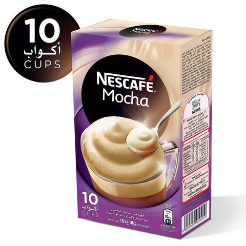Nescafe-Mocha-Instant-Foaming-Mix-18g-x10-Sticks