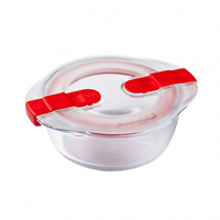 Pyrex Glass Round Dish With Vented Lid 0.35L