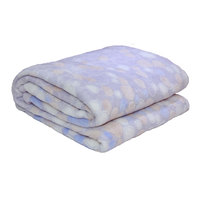 3D Super Soft Flannel Blanket Double Grey