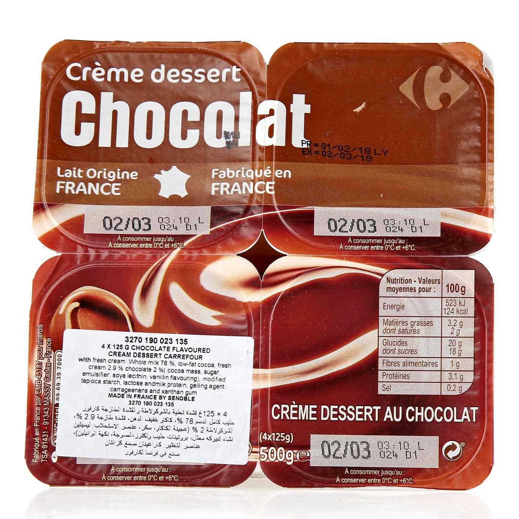 CRF DESSERT CREAM CHOCO 125GX4