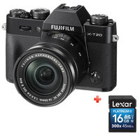 Fujifilm SLR Camera  X-T20 Black With 16-50MM Lens + 16GB Card