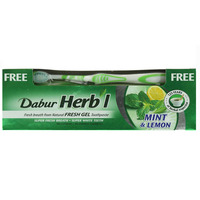 Dabur Mint & Lemon Natural Fresh Gel Toothpaste 150g