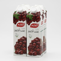 Kdd Red Grape Juice 1 L x 4 Pieces