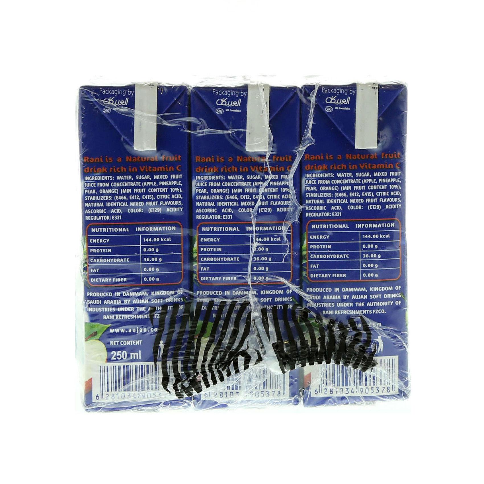 RANI COCKTAIL TETRA - 250MLX9