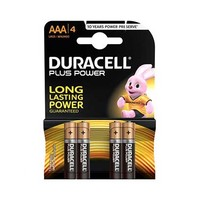 Duracell Plus Power Type AAA  Alkaline Battery X4