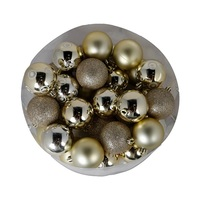 Christmas Gold Ball 8 Cm 32 Pieces
