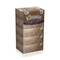 Kleenex Facial Tissue Silk 3 Ply 110 Sheets 5 Packs