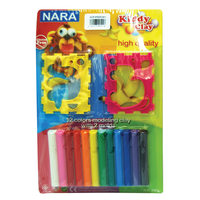 Kiddy Modeling Clay 12 Color Set + Accessories