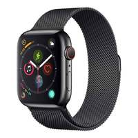 Apple Watch Series-4 GPS + Cellular 40mm Space Black Stainless Steel Case with Space Black Milanese Loop (MTVM2AE/A)