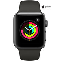 Apple Watch Series-3 38mm Space Gray Aluminium Case With Black Sport Band