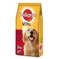 PEDIGREE® Beef & Vegetables Dry Dog Food Adult 3kg