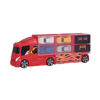 Teamsterz Car Transporter Truck Lorry With 4 Cars In Carry Case Vehicle Kids Toy