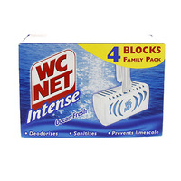 WC Net Intense Rim Cleaner Fresh Scent 4 Blue Blocks