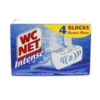 WC Net Intense Rim Cleaner Fresh Scent 4 Blue Blocks