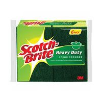 Scotch Brite Havy Duty Scrub Sponge X 6