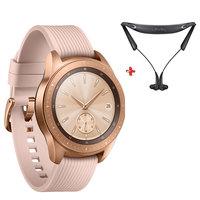 """Samsung Galaxy Watch (42mm)1.2"""" SM-R810N Rose Gold + Level U Pro Bluetooth Headset"""