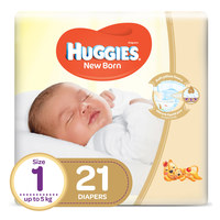 Huggies Baby Diapers Newborn Size 1 Up to 5kg 21 Counts