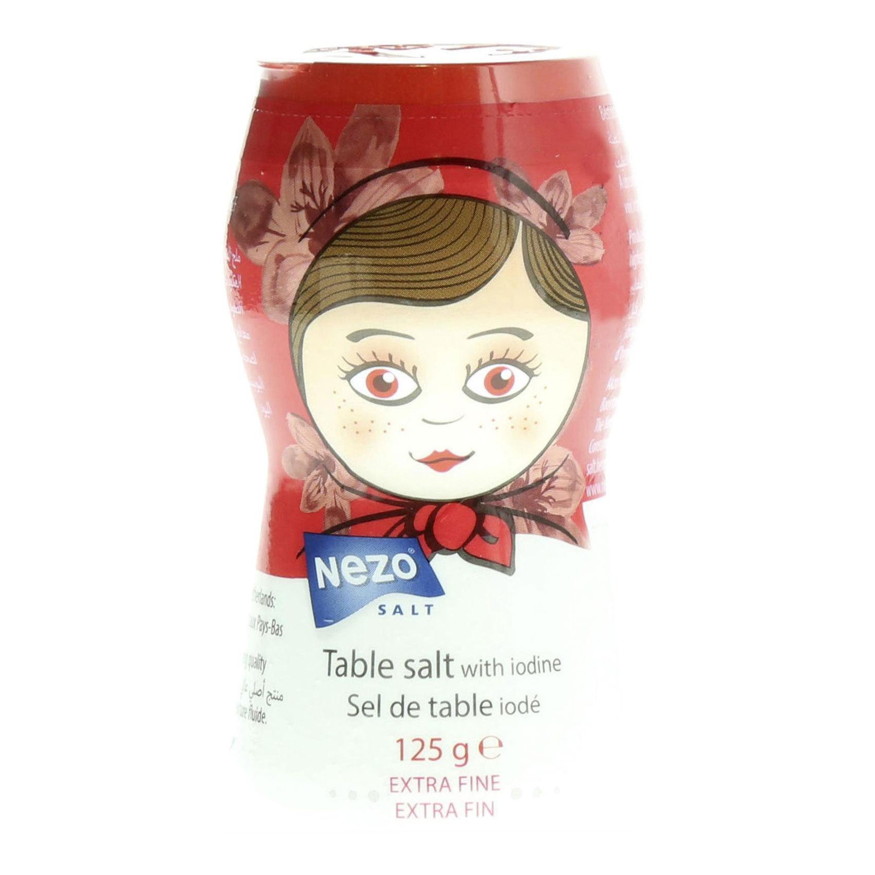 NEZO SALT IODIZED RED 125GR