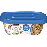 Purina Beneful Prepared Dog Food Meal Roasted Turkey Medley Tub 283g