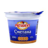 President Sour Cream 15% 200 g