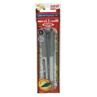 Uniball Eye Fine Roller Pen Black 2Pcs
