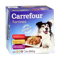 Carrefour Terrines Senior Dog Food 300GR X3