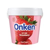 Onken Fat Free Strawberry Yogurt 450g