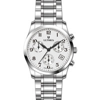 Ultimus Men's Watch Chronograph Display White Dial Silver 316L Stainless Steel Strap - U7101-SBSW