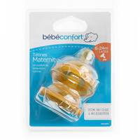 Bebeconfort Maternity Wide-Base Teat Natural Rubber S. 3 - Baby Food X2
