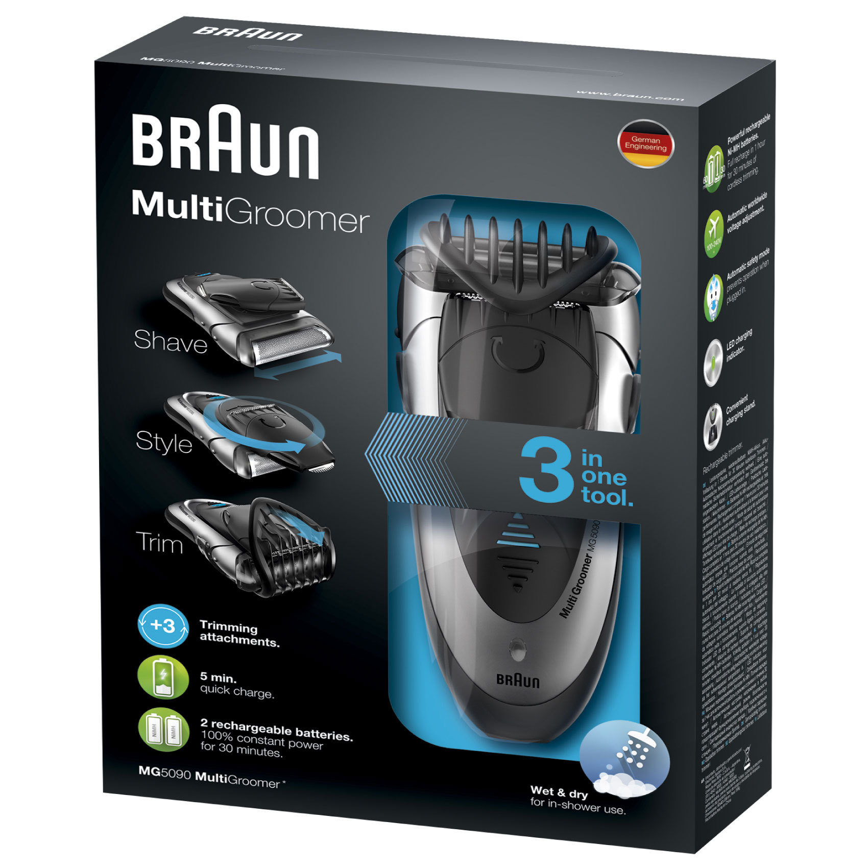 BRAUN TRIMMER MULTI MG5090