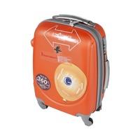 باسيفيك حقيبة سفر خامة صلبة 4 عجلات مقاس 19 انش لون برتقالي