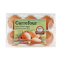 Carrefour Eggs Brown Medium x6