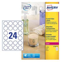 Avery Crystal Clear Label SL7780-25
