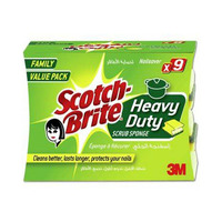 Scotch Brite Sponge 9 Heavy Duty Nailsav Scrub 9 Family