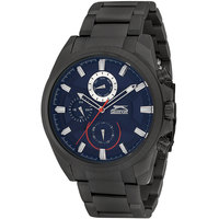 Slazenger Men's Multifunction Display Blue Dial Black Stainless Steel Bracelet - SL.9.6030.2.03