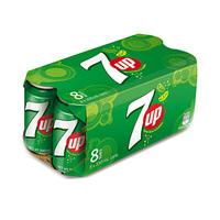 7-Up Soft Drink Can Regular 330ML X8