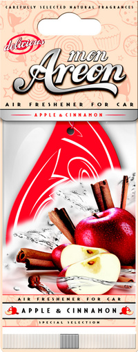 Areon Air Freshener Mon Apple And Cinnamon Cardbaord