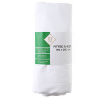 TEX Fitted Sheet Double White
