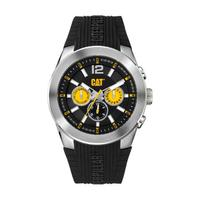 CAT Men's Watch T7 Multi Analog Black Dial Black Fabric / Rubber Band 44mm  Case