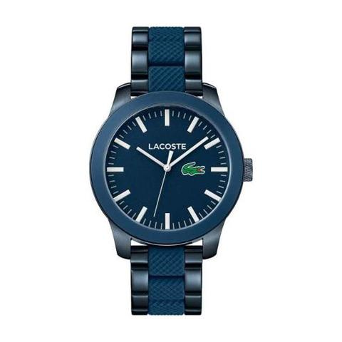 Lacoste-Men's-Watch-L12.12-Analog-Blue-Dial-Blue-Mixed-Metal-Band-43mm--Case