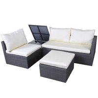 Laguna Wicker Corner Set With Storage 4Pcs ( Delivered In 7 Business Dys )