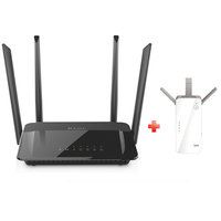 D-Link Wireless Router DIR882+Range Extender DAP 1720